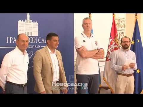 Учесници Кадетског првенства Европе у кошарци на пријему у Градској кући